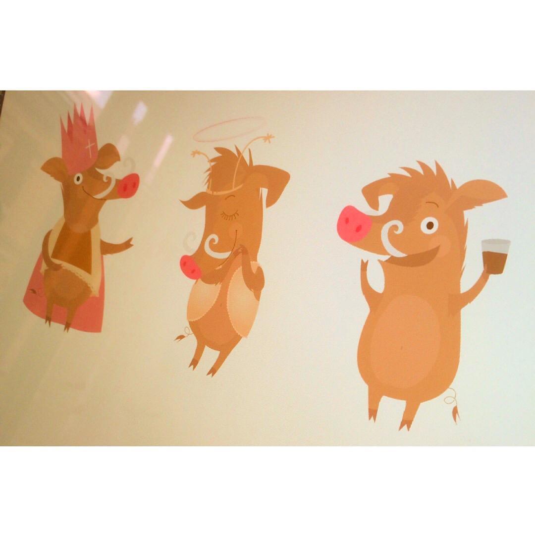 Ilustrace pro vánoční kampaň Kofola (nerealizováno)